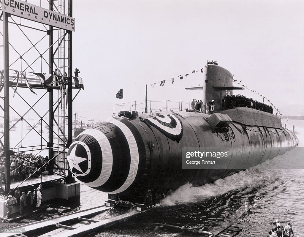 This is the second ballistic missile sub launched by U S Navy USS Patrick Henry 599 the second of the USS Navy's ballistic missile firing atomic...