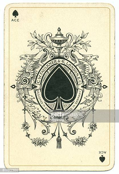 Dondorf Shakespeare 1895 ace of spades antique playing card