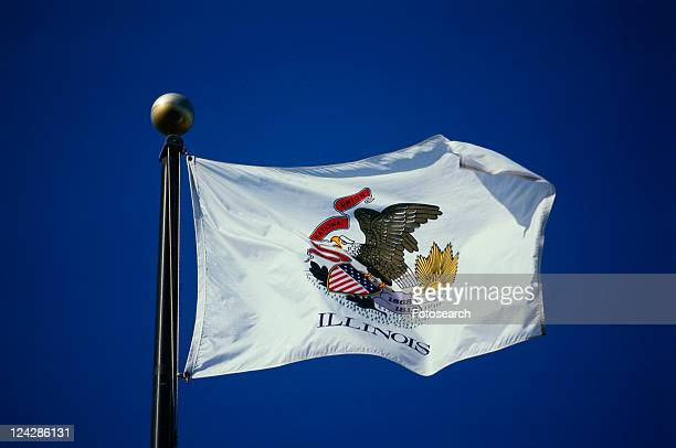 This is the State Flag waving in the wind