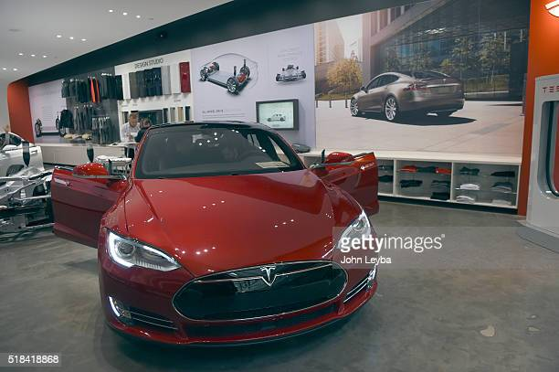 This is the Tesla showroom at Park Meadows Mall Tesla fans stood in long lines at Park Meadows March 31 2016 to preorder the new Tesla due to be...