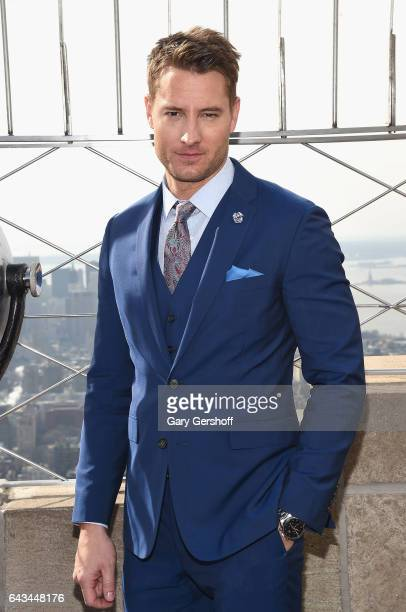 'This is Us' star Justin Hartley visits The Empire State Building on February 21 2017 in New York City