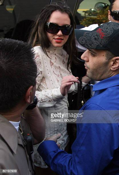 This January 14 2008 US file photo shows US pop star Britney Spears arriving at the Los Angeles County Superior courthouse for a hearing regarding...