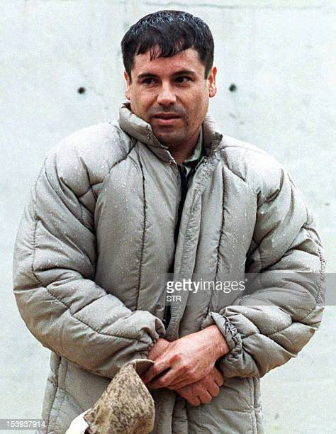 This July 10 1993 file photo shows Mexican Joaquin Guzman Loera aka El Chapo at La Palma prison in Almoloya of Juarez Guzman Loera who escaped from...