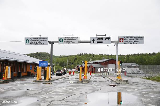 This June 6 2013 picture show Storskog Boris Gleb border crossing between Norway and Russia near the Norwegian town of Kirkenes in the far north of...