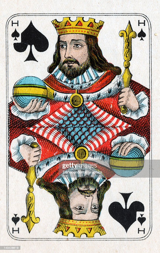 This King of Spades playing card from the Bon Gout Pack was printed in Belgium circa 1900