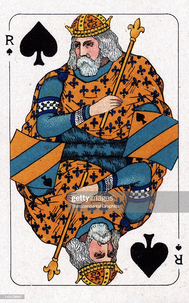 This King of Spades playing card from the Turnhout Pack was printed in Amsterdam Holland circa 1900