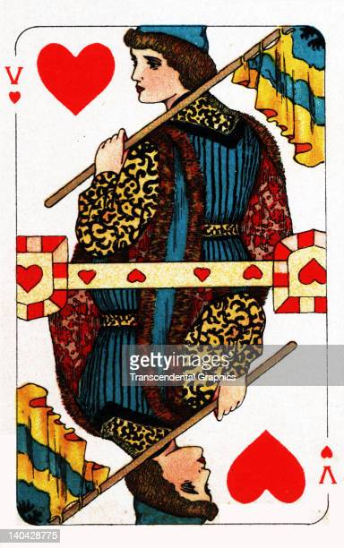 This Knave of Hearts playing card from the Turnhout Pack was printed in Amsterdam Holland circa 1900