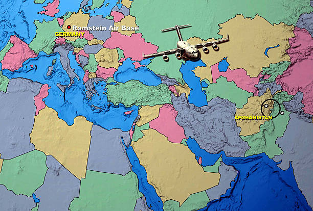Map Outlines Where The US Air Force Air Dropped Food Pictures - Germany map ramstein