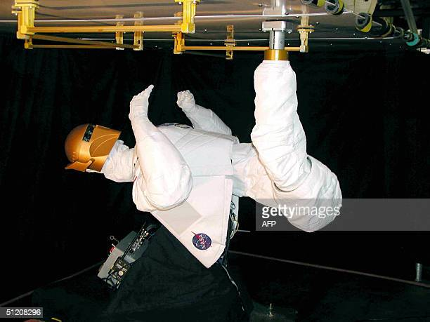 This March 2004 NASA file image shows Robonaut B The second in the series Robonaut B a robot built with humanlike hands and television camera eyes is...