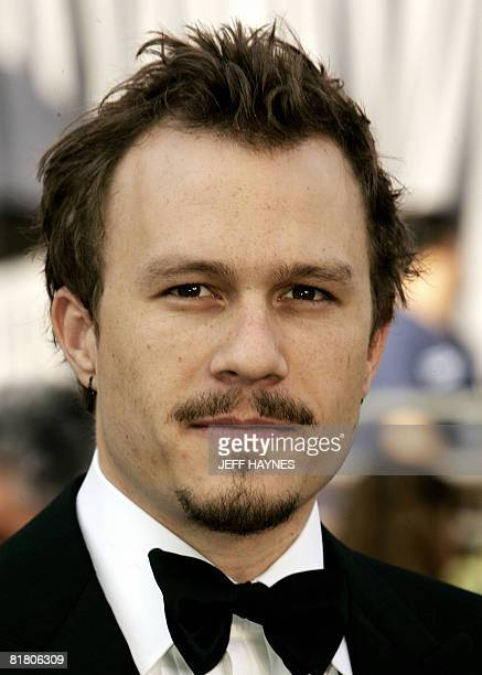 This March 5 2006 file photo shows Australian actor Heath Ledger arriving at the 78th Academy Awards at the Kodak Theater in Hollywood The Oscars are...