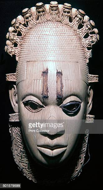 This mask was worn by the Oba of Benin at the waist on ceremonial occasions It represents an ancestor or predecessor