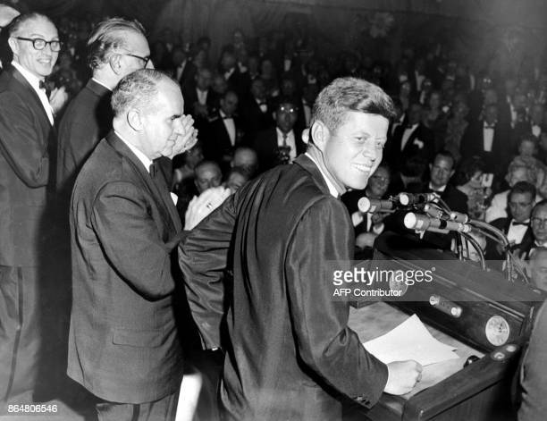 This May 14 file photo shows Democratic Nominee John F Kennedy during his Presidential Campaign in New York City US President Donald Trump said...
