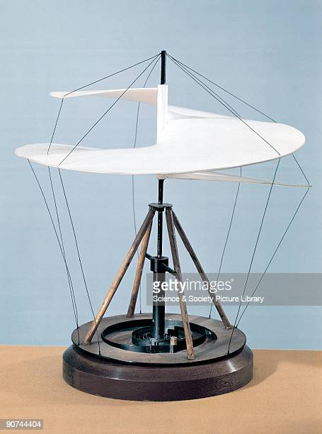 This model has been constructed from a sketch for a helicopter design by Leonardo da Vinci The ancient Chinese made handspun toys that rose upward...