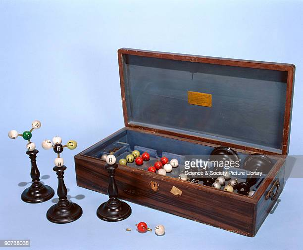 This molecular modeling set is labelled after August Wilhelm von Hofmann and signed 'Manuel Gonzalez Verdiguier Madrid' The set comprises five stands...