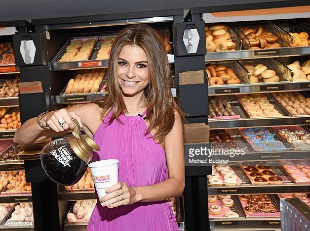 This morning at the new Dunkin Donuts restaurant in Santa Monica Host of E's 'Untold' and Live from E and former Dunkin Donuts employee Maria...
