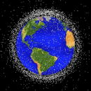 This National Aeronautics and Space Administration handout image shows a graphical representation of space debris in low Earth orbit According to the...