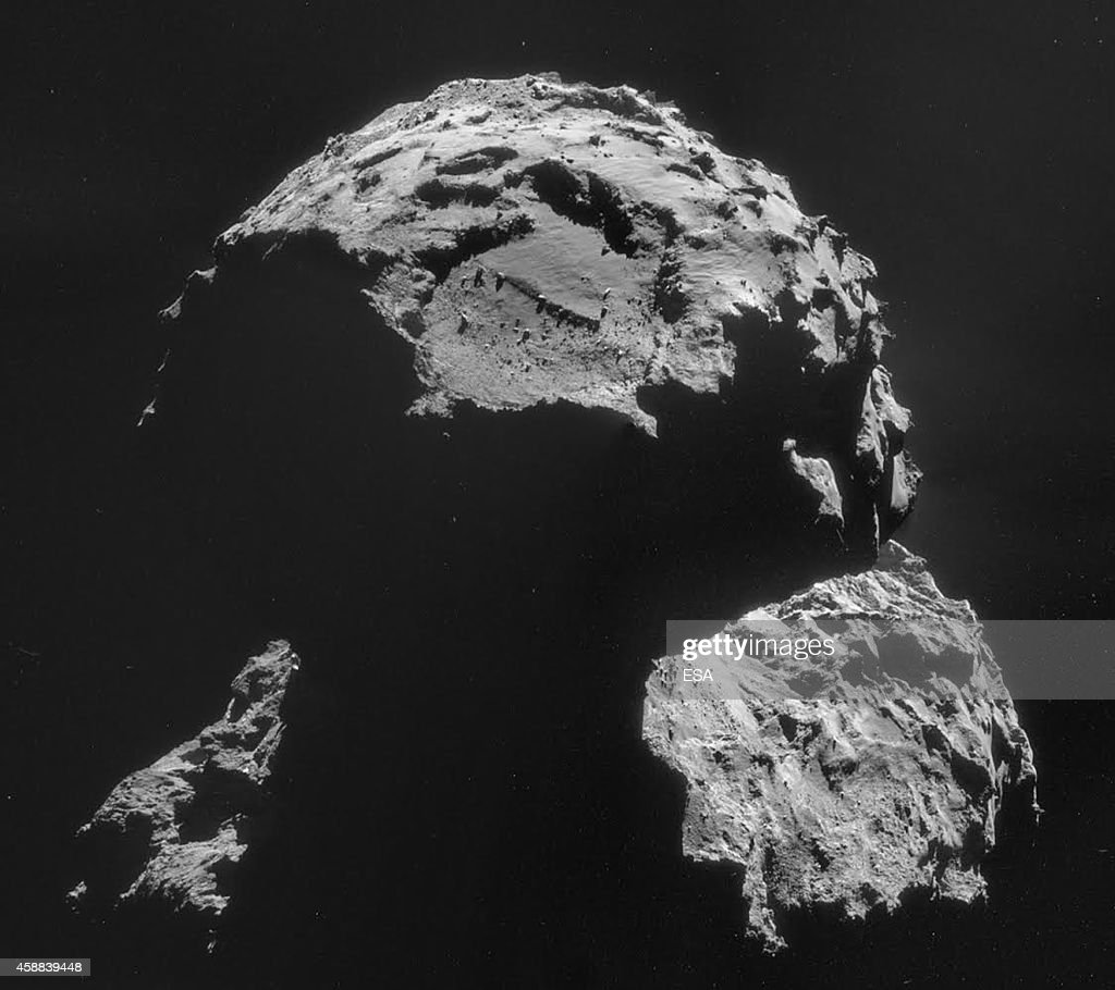 This November 10 2014 handout photo illustration provided by the European Space Agency shows the Agilkia landing site where the Philae lander...