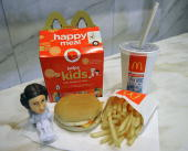 This October 13 2010 photo shows a McDonald's Happy Meal complete with a 'Star Wars' toy New York City artist Sally Davies bought a Happy Meal six...
