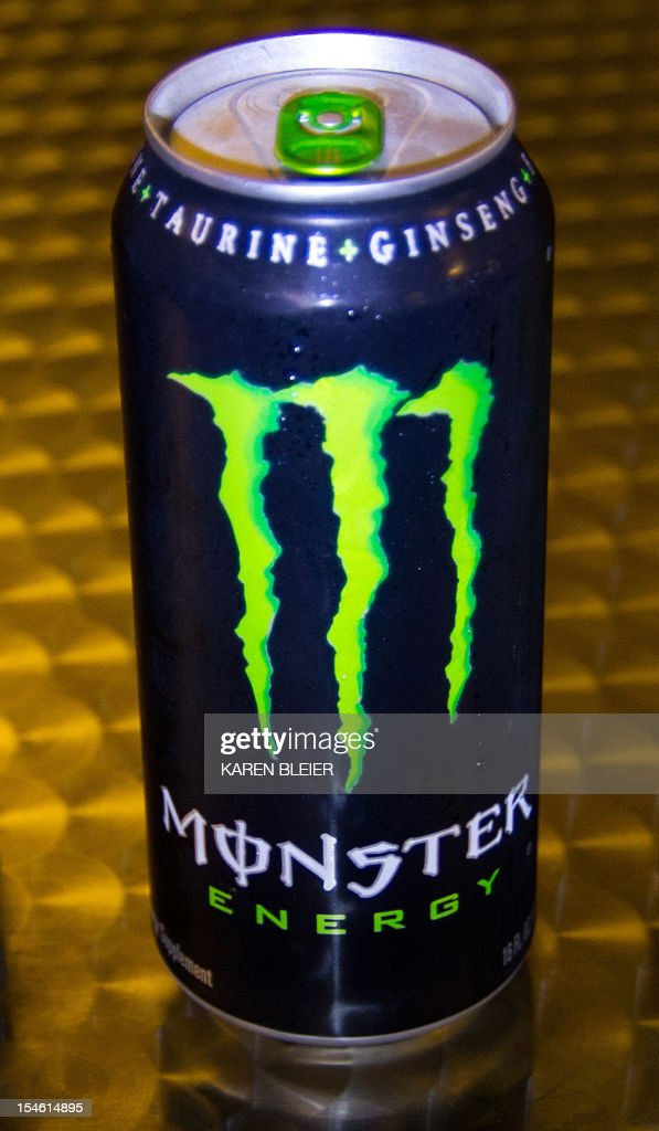 This October 23, 2012 photo illustration shows a can of Monster Energy drink in Washington, DC. The US Food and Drug Administration is investigating five deaths and a heart attack for possible links to consumption of Monster Energy drinks, an agency spokeswoman said Tuesday. 'I can verify that FDA has received five adverse event reports of death and one of heart attack possibly associated with Monster Energy drink,' said Shelly Burgess in an email. Burgess cautioned that such reports 'serve as a signal to FDA and do not prove causation between a product or ingredient and an adverse event.' The family of an adolescent, Anais Fournier, who died of an arrhythmia in December 2011, allegedly after drinking two cans of Monster Energy over a 24 hour period, brought suit Friday in California against Monster Beverage. Her parents accused the company of not warning consumers of the potential dangers of its product. AFP PHOTO/Karen BLEIER