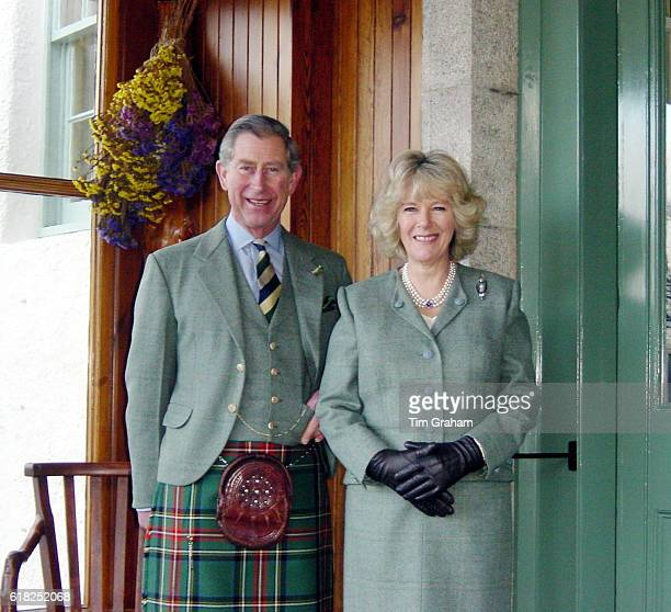 This official photograph released by Clarence House on Thursday February 10 shows the Prince of Wales and Mrs Camilla Parker Bowles at Birkhall in...