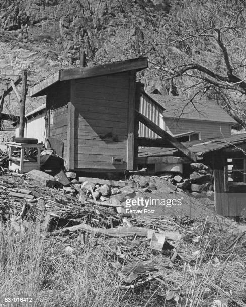 This outhouse drains directly into Clear Creek a clear violation of state sanitation laws The elderly couple living here hove a well the same depth...