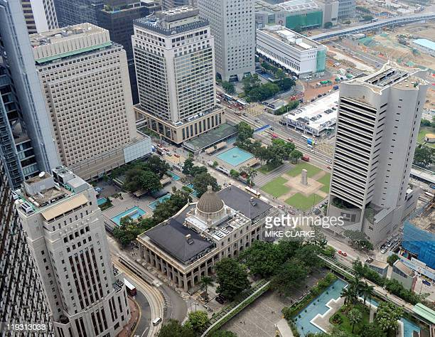This overview image shows the Legislative Council building in the Central district of Hong Kong on July 18 2011 The city's Legislative Council will...