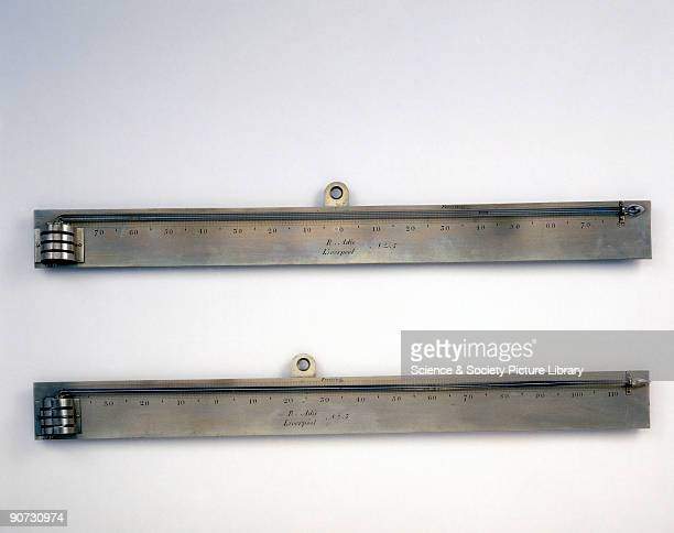 This pair of fine liquidinglass Fahrenheit thermometers were made by Richard Adie of Liverpool There were four Adies the father Alexander had sons...