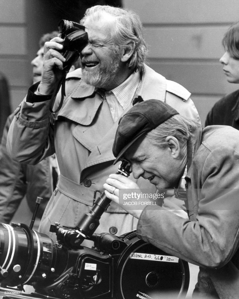 This photo from 1981 shows the legendary Swedish movie director and play writer Ingmar Bergman (R) with photographer Sven Nyqvist (L) on the set of 'Fanny and Alexander'. Bergman celebrates his 85th anniversary 14 July 2003.