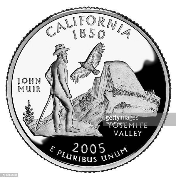 This photo made available by the US Mint shows the first quarter released in 2005 honoring California The coin is the 31st in the United States...
