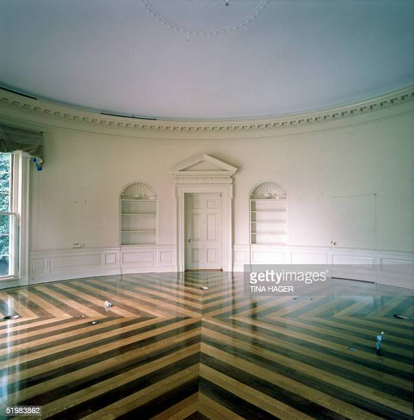 This photo released 23 August 2001 by the White House shows the Oval Office in Washington DC after the completion of renovation work The furniture...