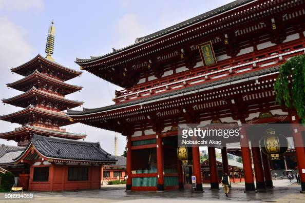 CONTENT] This photo shows Five Storied Pagoda and Hozomon Gate of Sensoji Temple Sensoji Temple is the most popular and colorful temple in Tokyo...