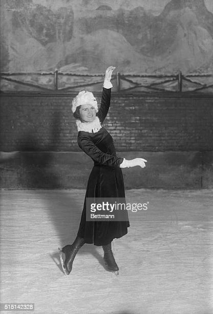 This photo shows Miss Beatrix Laughran of New York who represented the United States in the women's figure skating events of the Paris Olympic games