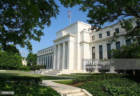 This photo shows the US Federal Reserve Building in Washington DC on May 4 2008 Also known as the Federal Reserve or informally The Fed is the...