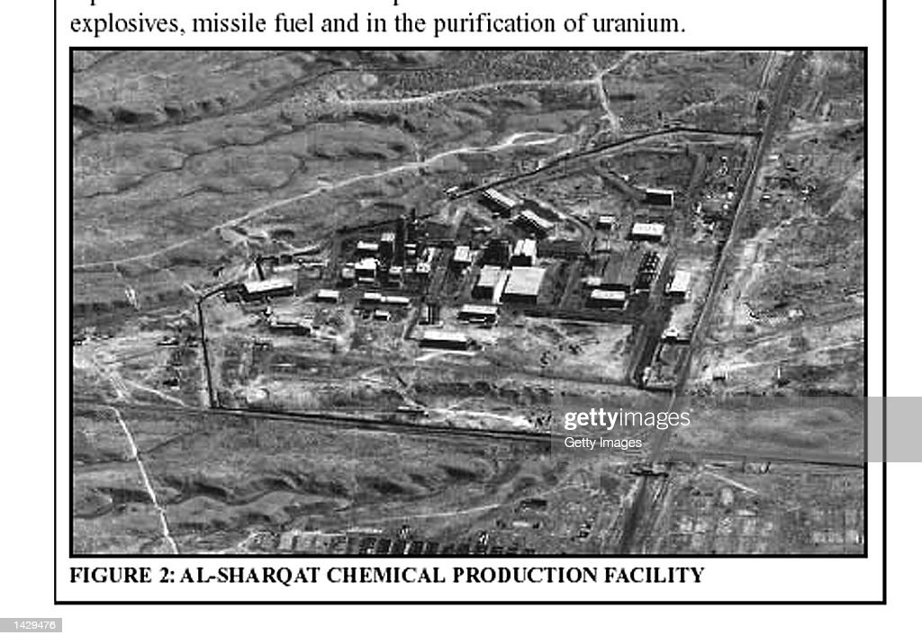 This photo taken from the British government's 50page report on Iraq's weapons of mass destruction capability released September 24 2002 reportedly...