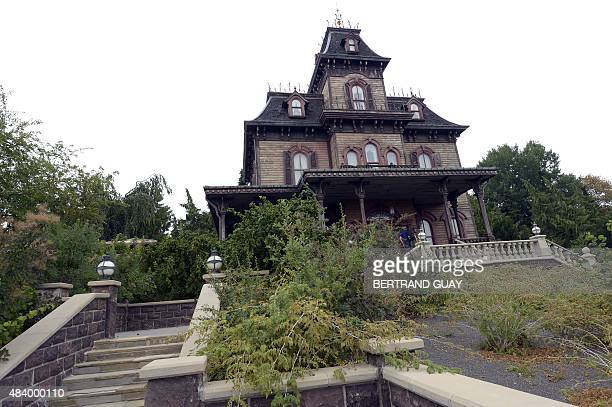 This photo taken on August 13 2015 shows the Phantom Manor in Frontierland at The Walt Disney Studios park at Disneyland Paris in MarnelaVallee AFP...