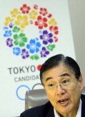 This photo taken on August 20 2013 shows CEO of the Tokyo 2020 Bid Committee Masato Mizuno answering questions during an exclusive interview with...