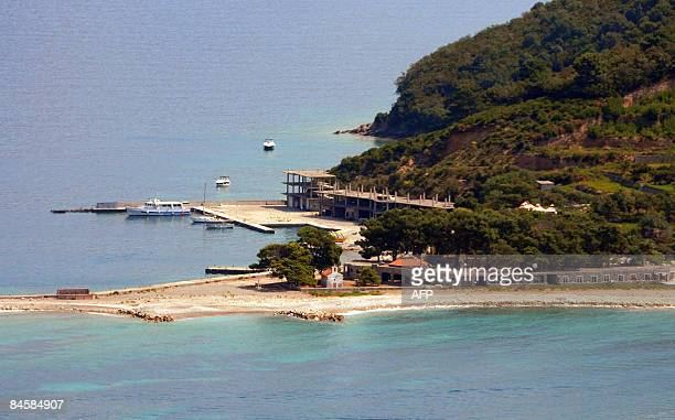 This photo taken on August 22 shows a little Montenegro island Sveti Nikola that the Prva Banka decided to put up for auction 37000 sqm of the island...