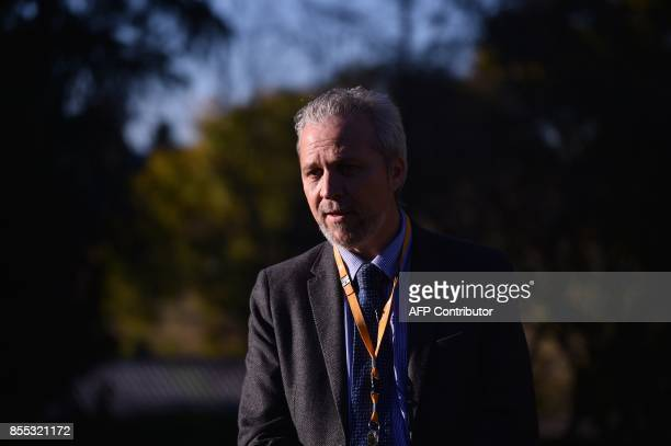This photo taken on August 8 2017 shows traumatic stress specialist Zachary Steel speaking to AFP in the grounds of the St John of God Richmond...