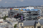 This photo taken on August 8 in Paris shows the Georges Pompidou Museum as seen from the top of the Saint Jacques Tower AFP PHOTO / MIGUEL MEDINA