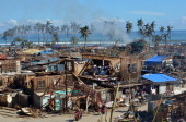 This photo taken on December 11 2012 shows a general shot of the devastation of the town of Baganga in Davao Oriental province after Typhoon Bopha...