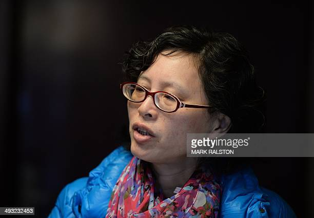This photo taken on February 23 2014 shows doctor Lan Yuefeng a former hospital ultrasound chief from the Mianyang People's Hospital who has...
