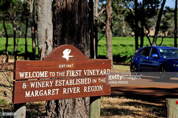 This photo taken on January 3 2010 shows the entrance to the Vasse Felix Winery the oldest winery in the internationally renowned Margaret River wine...