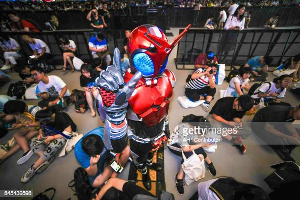 This photo taken on July 23 2017 shows a costumed participant attending Bilibili Macro Link 2017 an annual convention of animation comic and game in...