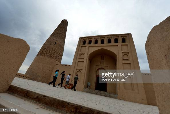 This photo taken on June 27 2013 shows the Emin Mosque in Turpan Xinjiang region Riots in China's ethnically divided Xinjiang region left up to 35...