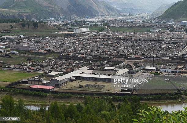 HAAS This photo taken on June 27 2015 shows the North Korean town of Musan across the Chinese border in China's northeast Jilin province A threemetre...