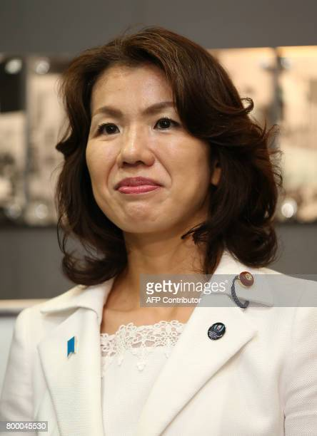 This photo taken on June 9 2016 shows Japan's ruling liberal democratic party lawmaker Mayuko Toyota in Saitama prefecture The female Japanese...