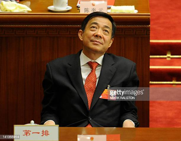 This photo taken on March 14 shows Chongqing Party Secretary Bo Xilai during the closing ceremony of the National People's Congress at the Great Hall...