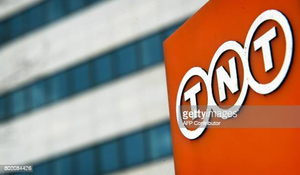 This photo taken on March 25 2013 shows the headquarters of TNT Express company in Hoofddorp near Amsterdam The Netherlandsbased shipping company...
