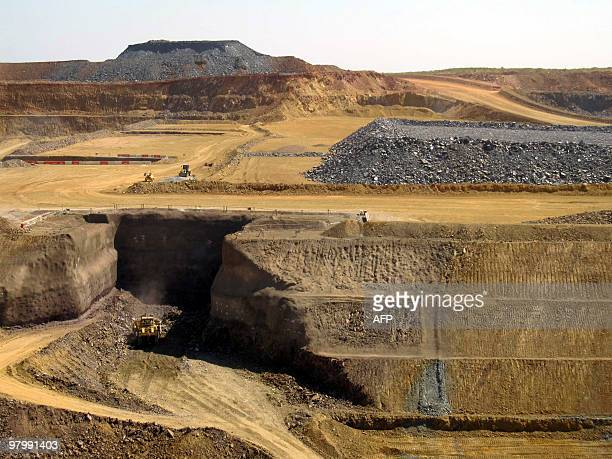 This photo taken on March 5 2010 shows the pit at Citic Pacific Mining's Sino Iron magnetite iron ore project in the Pilbara region of Western...