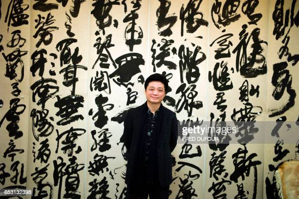 This photo taken on March 7 2017 shows Chinese television host and producer Cui Yongyuan posing at his workshop in Beijing Empty talk selfcensorship...